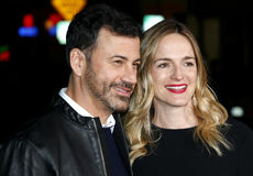 Jimmy Kimmel and Molly McNearney Stock Images