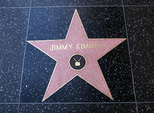 Jimmy Kimmel star on Hollywood Walk of Fame Stock Image