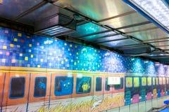Jimmy Liao sztuki na Nangang staci metru ścianie Fotografia Stock