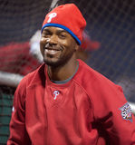 Jimmy Rollins. Philadelphia Phillies shortstop Jimmy Rollins during batting practice in 2009 World Series Stock Photography