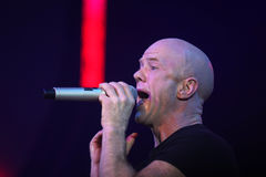 Jimmy Somerville. (James William Somerville) performing in Riga 2009 Royalty Free Stock Photo