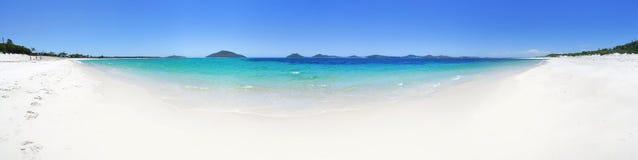 从Jimmys海滩斯蒂芬斯港的180幅全景 免版税图库摄影