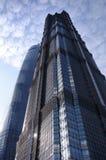 Jin Mao och Shanghai torn Arkivfoton