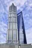 Jin Mao och WFS-skyskrapor på Pudong, Shanghai Royaltyfri Fotografi