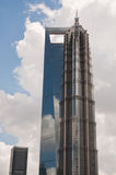 Jin Mao Tower. An image of Jin Mao Tower and two other skyscrapers stock photography