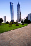 Jin Mao Tower and Shanghai word financial cente Stock Photo