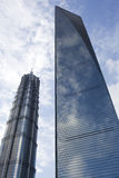 Jin Mao Tower & Shanghai World Financial Center Stock Image