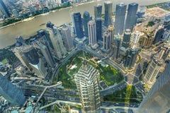 Jin Mao Tower Skyscraper Huangpu River Liujiashui Shanghai China foto de stock royalty free