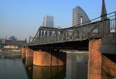 old iron  bridge. The iron bridge on Hai He river Tianjin China photoed on December 1st 2013 Stock Images