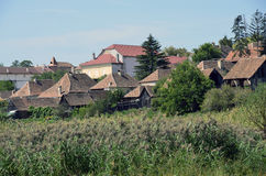 Jina roofs of Sibiu Stock Images