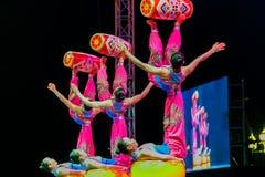 Jinan acrobatic troupe Royalty Free Stock Photo