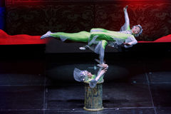 Jinan acrobatic troupe performs in St. Petersburg, Russia Stock Images