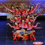 Jinan acrobatic troupe performs in St. Petersburg, Russia Royalty Free Stock Photos