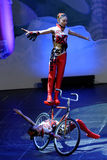 Jinan acrobatic troupe performs in St. Petersburg, Russia Stock Image