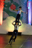 Jinan acrobatic troupe performs in St. Petersburg, Russia Stock Photos