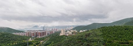 Jinan após o tufão 2 fotografia de stock royalty free