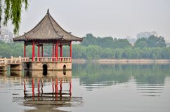 Jinan Daming Lake and pavilion Royalty Free Stock Images