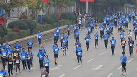 Jinan marathon, China stock video footage