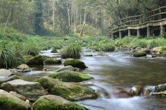 Jinbian stream in Zhangjiajie Wulingyuan. Jinbian stream is located in Zhangjiajie, named for through the golden whip rock, total length of 5710 meters, is the Stock Image