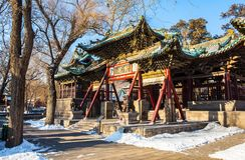 Jinci Memorial Temple(museum) scene. Duiyue archway Stock Photos