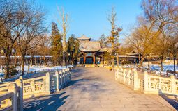 Jinci Memorial Temple(museum) scene. Royalty Free Stock Image