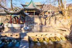 Jinci Memorial Temple(museum) scene. Nanlao Spring. Stock Photos