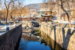 Jinci Memorial Temple(museum) scene. Nanlao Spring. Stock Photography