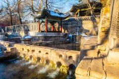Jinci Memorial Temple(museum) scene. Nanlao Spring. Royalty Free Stock Images