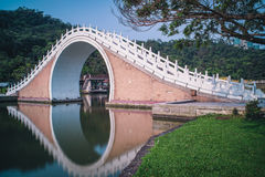 Jindaibrug van Dahu-Park in Neihu-District, Taipeh, Taiwan Royalty-vrije Stock Foto's