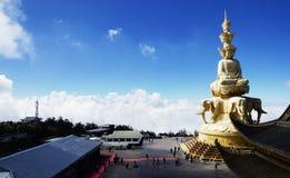 jinding美好的风景的峨嵋山在中国 免版税库存图片