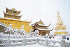 Jinding Temple And Puxian Buddha Of MT.Emei Royalty Free Stock Photography