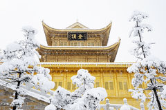 Jinding temple  of MT.Emei. Temple at the top of MT.Emei Royalty Free Stock Photography
