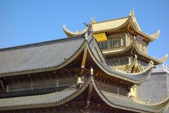 Jinding temple  of MT.Emei. Temple at the top of MT.Emei Stock Photos