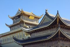 Jinding temple  of MT.Emei Royalty Free Stock Photos