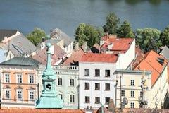 新生房子在Jindrichuv赫拉德茨 免版税库存图片