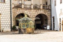 Jindrichuv Hradec στη θερινή ημέρα cesky τσεχική πόλης όψη δημοκρατιών krumlov μεσαιωνική παλαιά στοκ εικόνα με δικαίωμα ελεύθερης χρήσης