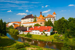 Jindrichuv Hradec. Beautiful renaissance era castle with Roundel pavillon in Jindrichuv Hradec was built in 16th century and is located on the hill near the Royalty Free Stock Photography