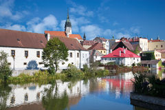 Jindrichuv Hradec town, Czech republic Royalty Free Stock Photo