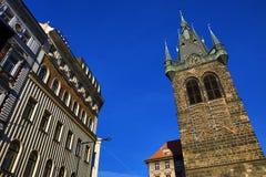 Jindriska Tower, Old Buildings, (Vinohrady), Prague, Czech Republic Stock Photos