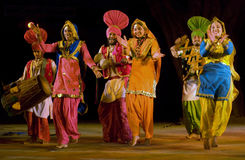 Jindwa-Folk dance of punjab,india Stock Image