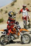 Jinete adolescente del motocrós Fotografía de archivo