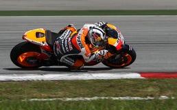 Jinete Dani Pedrosa de MotoGP Imágenes de archivo libres de regalías