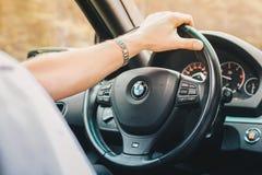 Jinete de BMW Foto de archivo libre de regalías
