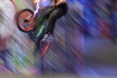 Jinete de BMX Imagen de archivo libre de regalías