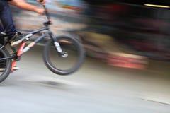 Jinete de BMX Imágenes de archivo libres de regalías