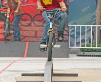 Jinete de BMX Fotos de archivo libres de regalías