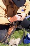 Jinete de Bull Imagen de archivo libre de regalías