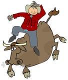 Jinete de Bull Imagenes de archivo