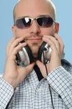 Jinete de disco con los auriculares Fotografía de archivo libre de regalías