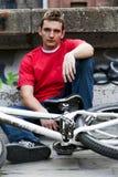 Jinete de la bici Fotografía de archivo